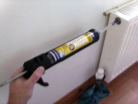How to add the inhibitor / cleaner /noise silencer, with a cartridge gun into the central heating