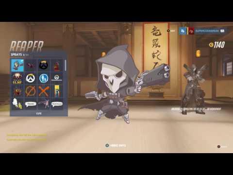 Overwatch Reaper Cute skin how to get it die die die die