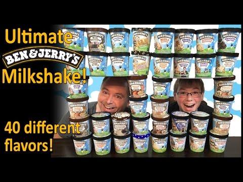 Ultimate Ben & Jerry's Milkshake, 40 flavors!! : Crude Brothers
