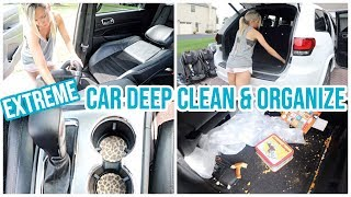 Download EXTREME CAR CLEAN AND ORGANIZE // COMPLETE DISASTER CAR CLEANING ORGANIZATION HACKS // CLEAN WITH ME Video