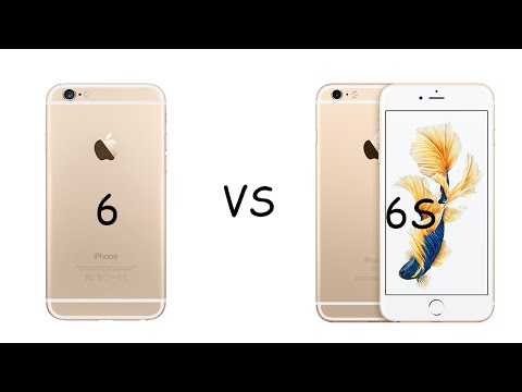 iPhone 6S Gold  vs iPhone 6 Gold