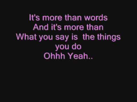 Westlife-More Than Words Lyrics