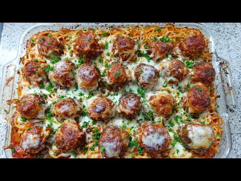 The Best Baked Spaghetti And Meatballs