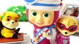 Download МАША Доктор и Щенячий Патруль 2 серия - Мультики для детей Игрушки Маша и Медведь и Щенячий Патруль Video