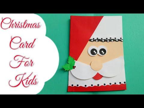 DIY Santa christmas cards/Making Christmas card for kids/Simple & easy card for Christmas/Cute card