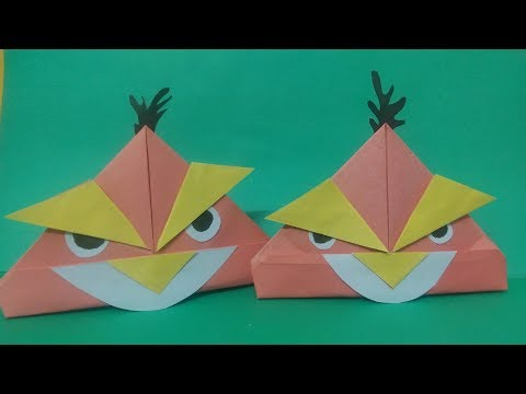 How To Make Angry Bird Origami | Paper Angry Bird | Paper Pastime