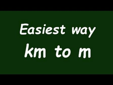 ✅ Convert Km to m (kilometer to meter) with Example