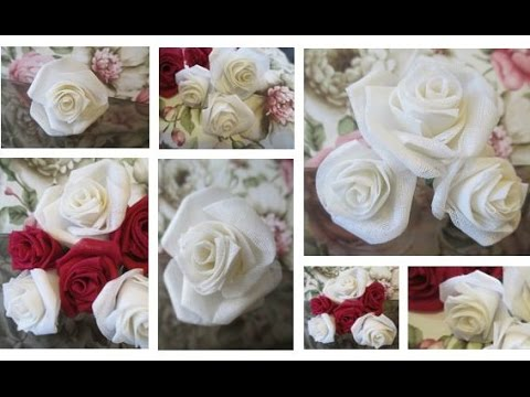 DIY Gorgeous Fabric Roses- Super Easy | Preeti Petals