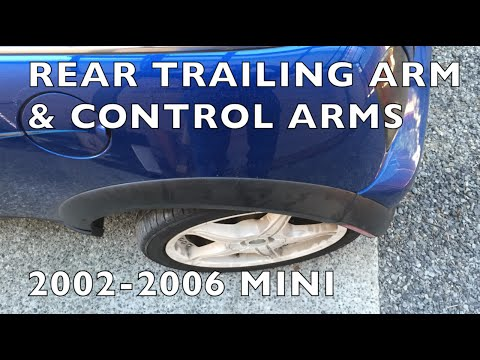 How to Replace  Broken Trailing Arm / Control Arms 2002-06 MINI Cooper