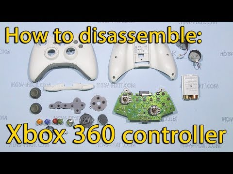 How to disassemble, clean and reassemble Xbox 360 controller