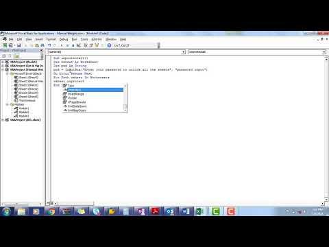 VBA Code to Unprotect Multiple Sheets