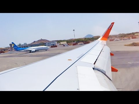 EasyJet Airbus A320 G-EZWK Heraklion Crete Approach and Landing Runway 09