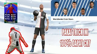 SURE RONALDO BLACK BALL TRICK IN WORLDWIDE CLUB STARS BOXDRAW || PES 2020 MOBILE
