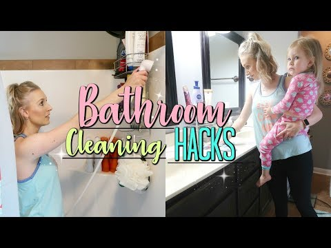 BATHROOM CLEANING HACKS-How To Maintain A CLEAN BATHROOM-DOLLAR TREE Tricks Tips and Hacks