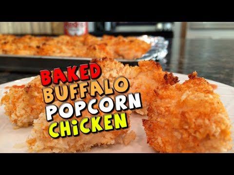Baked Buffalo Popcorn CHICKEN Recipe (Healthy)