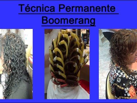 Permanente con Boomerang Efecto de Rulo Tirabuzón