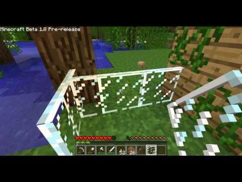 Minecraft Beta 1.8 - Glass Panes & Iron Bars - New Decorative Items