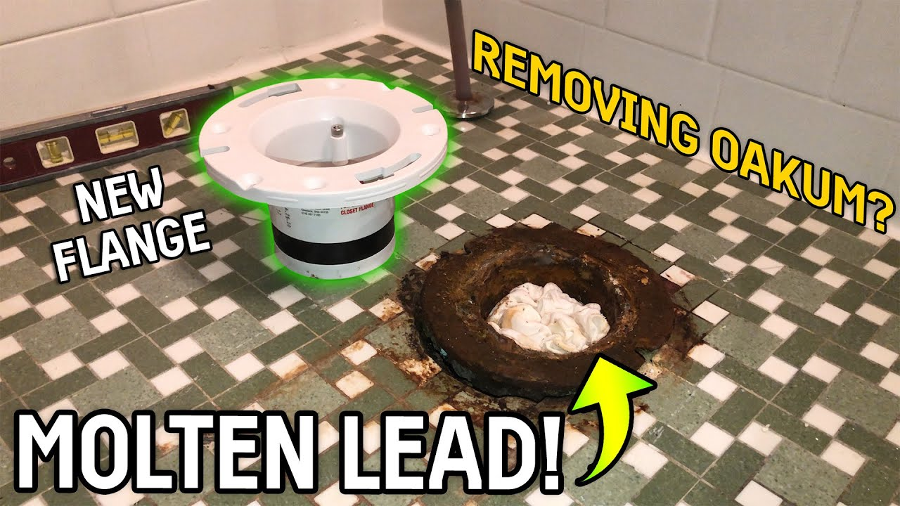 REMOVING & REPLACING a Cast Iron Toilet Flange