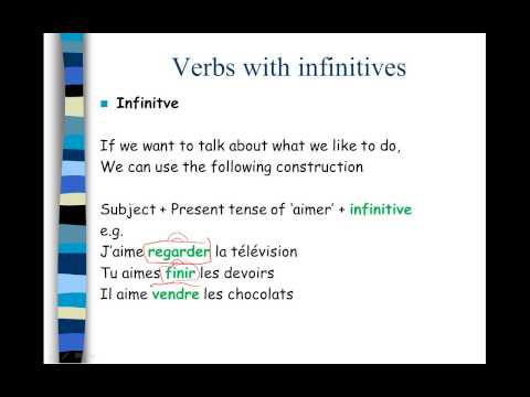 ilearn french - Verbs with infinitives