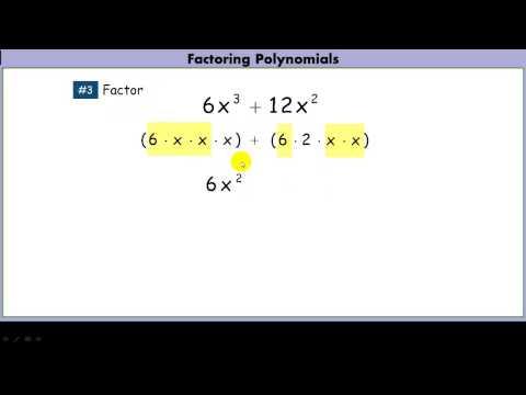 Factoring a GCF out of a polynomial