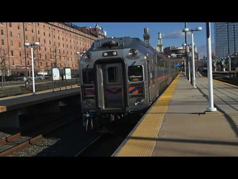 MARC Camden Line Train leaves Camden Yards