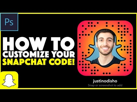 How to Customize your Snapchat Snapcode in Photoshop Tutorial (Change Snapcode Color & Photo )
