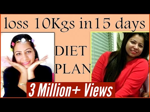 How to Lose Weight Fast 10Kg in 15 Days | Full Day Diet/Meal Plan for Weight Loss | Fat to Fab