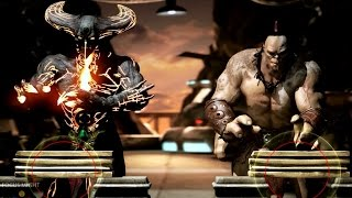 Mortal Kombat X Corrupted Shinnok Test Your Might Gameplay with Rain, Baraka and More 【HD】