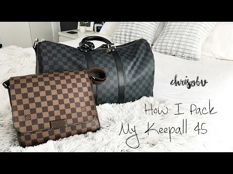 Louis Vuitton // What fits in my Keepall 45