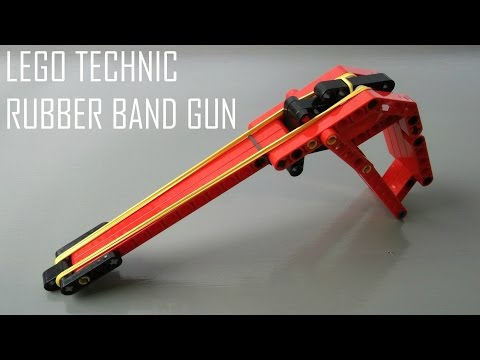 How to Make a Lego Technic Rubber Band Gun - Semi Automatic