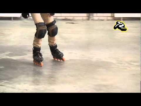 т-стоп (t-stop) - Как тормозить на роликовых коньках