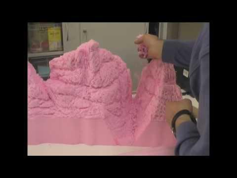 Carving Rocks in a Foam Diorama