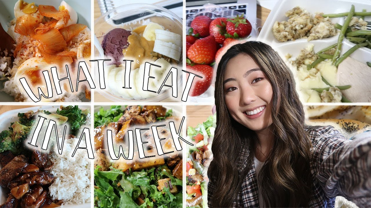 WHAT I EAT IN A WEEK AS A PREMED (Realistic) | Saving Money, Self-Care, Workouts + Covid Testing!