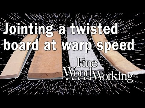 Jointing a twisted board at warp speed - with Bob Van Dyke