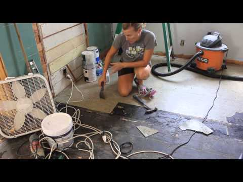 how we removed our asbestos floor tiles
