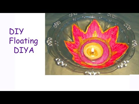 how to make lotus floating diya/diy floating diya