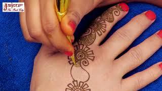 Latest mehndi design for Hands | Easy mehndi design for stylish girls back hands | henna tattoo #155