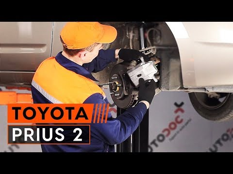 How to replace front brake caliper TOYOTA PRIUS 2 TUTORIAL | AUTODOC