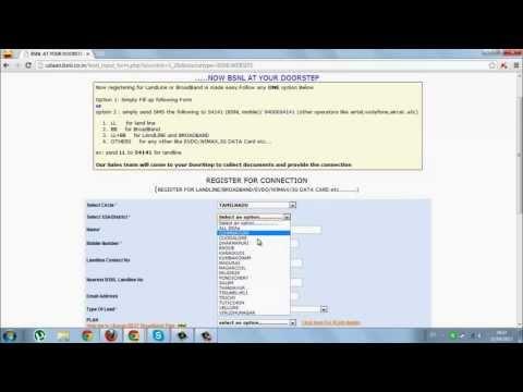 How to apply bsnl broadband plan online