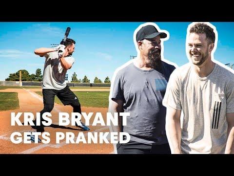 Baseball Star Kris Bryant Gets Pranked by Hall of Famer Greg Maddux