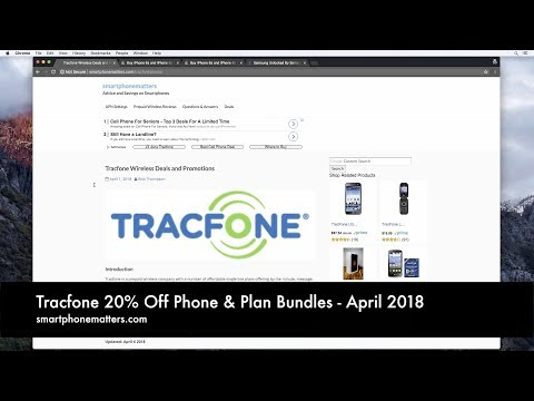 Tracfone 20% Off Phone & Plan Bundles - April 2018