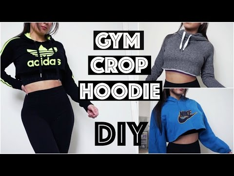 DIY Workout CROP Hoodie for the GYM - Fun, Simple and Cheap!