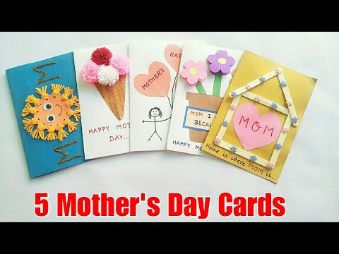 5 Special DIY Mother's Day Cards Ideas for Kids/Mother's Day Gift/Mother's Day Card/Cards for Mom