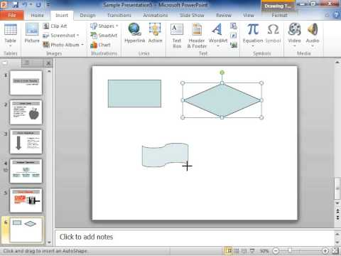 PowerPoint 2010 Draw a Flowchart