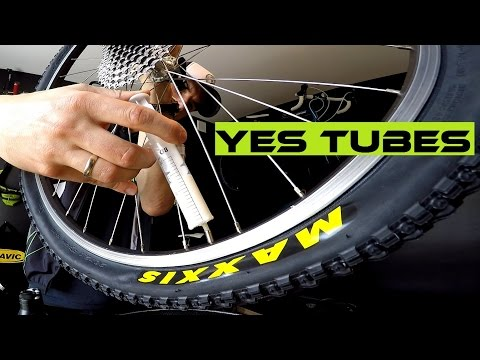 How To Replace Bike Tire And Use Stan's NoTubes Sealant For The Inner Tube.