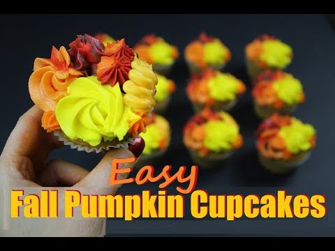 Easy Fall Pumpkin Cupcakes | CHELSWEETS