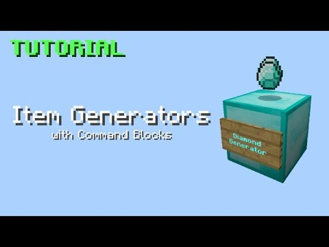 Item Generators with Command Blocks (TUTORIAL) - MCPE/Win10/Xbox/Switch