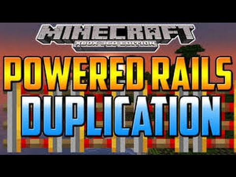 MINECRAFT XBOX ONE/PS4 - POWERED RAILS DUPLICATION GLITCH (HOW TO DUPLICATE POWERED RAILS)