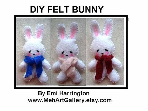 DIY FELT BUNNY, sewing pattern, free download, sewing for beginners, plushies, softies, felties,
