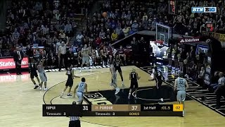 P.J. Thompson Ends Half with 3-Pointer vs. IUPUI